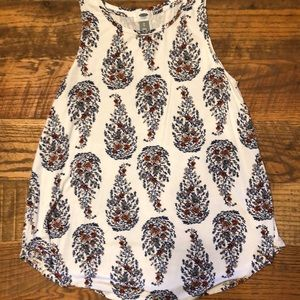 OLD NAVY floral swing high neck flowy tank